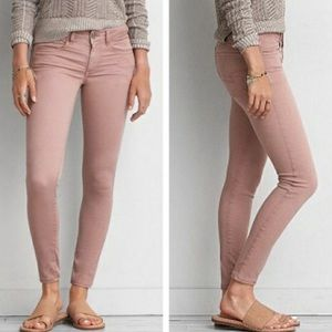 American Eagle Jeggings Blush Pink Size 4